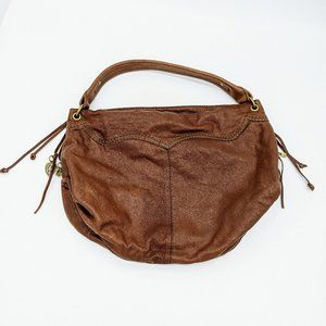 Lucky Brand Brown Soft Sided Leather Hobo Bag NWT